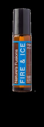 FIRE & ICE ROLL ON WITH ORGANIC COCONUT OIL - MUSCLE BLEND 10ML