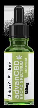 ADVAN CBD/ CBG BROAD SPECTRUM  NATURAL TINCTURE  500 mg.